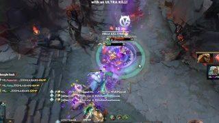 Amazing EG.rtz Arteezy rampage vs Vici Gaming at TI9